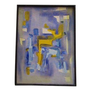Vintage Abstract Expressionism Painting Non Objective Art Pop Expressionist MCM For Sale