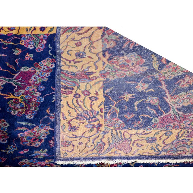 "Blue Early 20th Century Sparta Rug-12'x15'6"" For Sale - Image 8 of 9"
