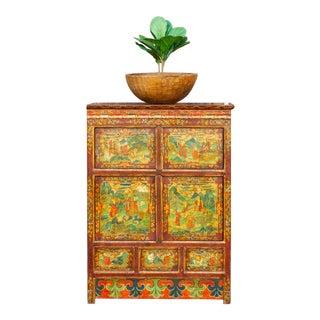 Antique Sino Tibetan Buffet Cabinet For Sale