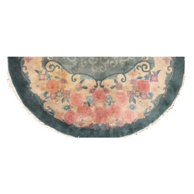 1920s Hand Made Antique Art Deco Chinese Rug - 5′ × 7′10″ - Image 2 of 7