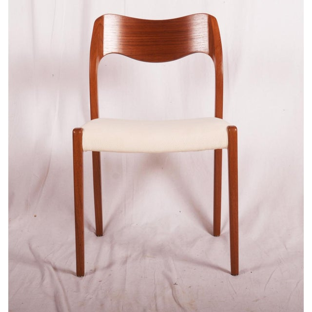 Model 71 Teak Dining Chairs by Niels Otto Møller for JL Møllers, 1951 For Sale - Image 5 of 11