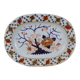 Old Japan Pattern Late Georgian Crown Derby Porcelain Platter