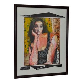 Framed Original Oil Portrait by Barnes For Sale