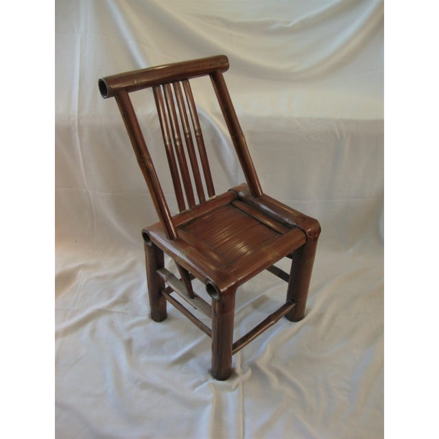 Primitive Bamboo Chairs- A Pair - Image 6 of 8