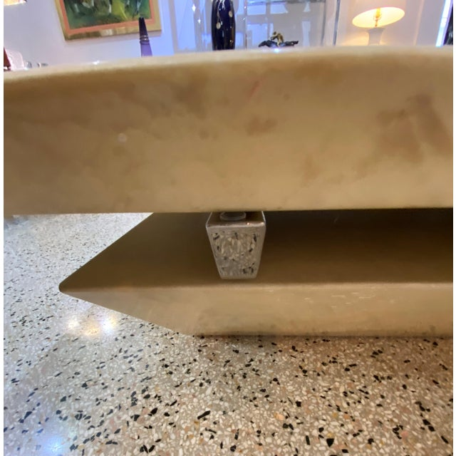 Karl Springer Style Goatskin Cocktail Table For Sale In West Palm - Image 6 of 13