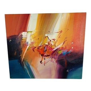 1980s Mandy Wilkinson Abstract Painting For Sale