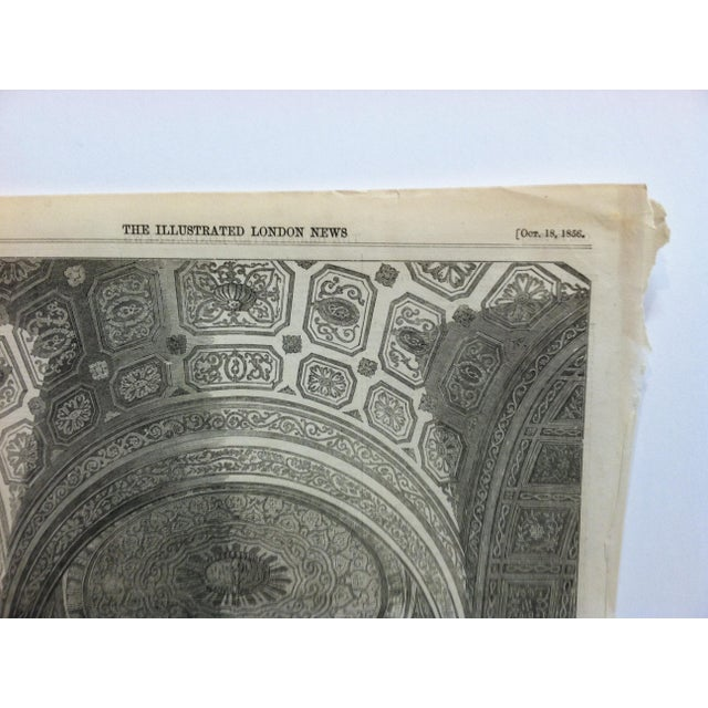 """1856 Antique """"Ball in St. Alexander's Hall in the Palace of the Kremlin"""" The Illustrated London News Print For Sale - Image 4 of 5"""