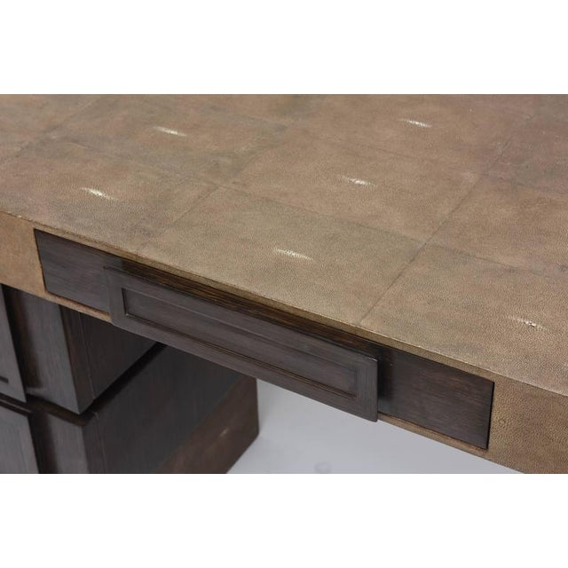 Shagreen and Wenge Desk by R & Y Augousti For Sale - Image 11 of 11