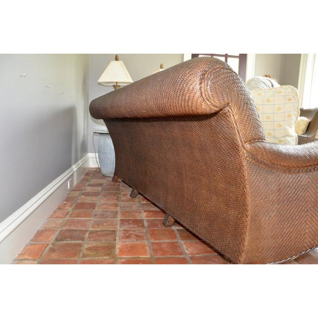 Hickory Chair Company Rattan Three Seat Sofa Couch - Image 7 of 8