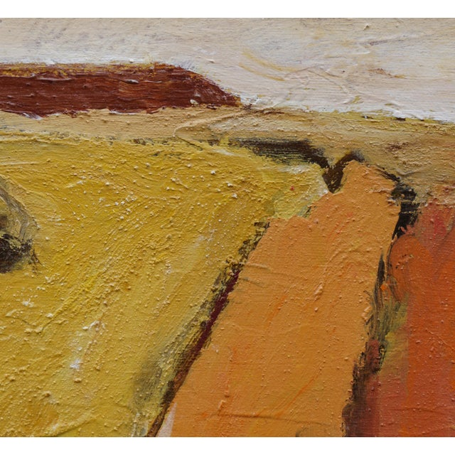 """Laurie MacMillan Laurie MacMillan """"Silence"""" Abstract Landscape For Sale - Image 4 of 6"""