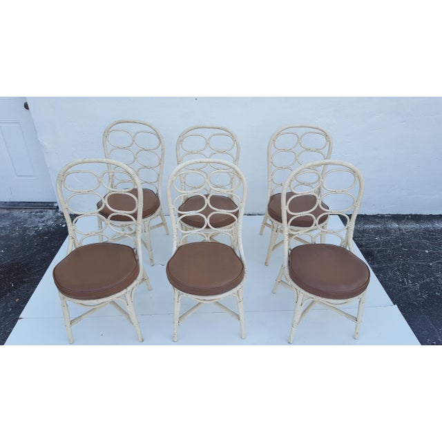 Franco Albini Inspired Rattan Dining Chairs - Set Of 6 - Image 2 of 11