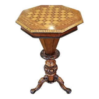 19th Century British Games Top Trumpet Shaped Table For Sale