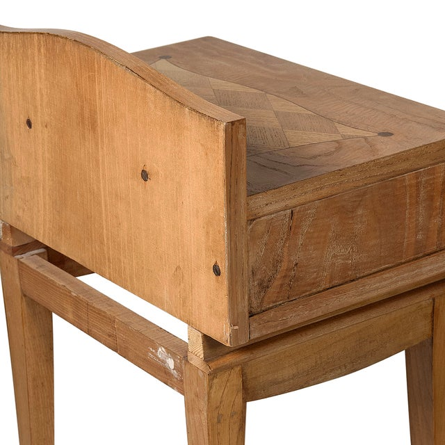 French Oak Inlaid End Tables - Image 6 of 7