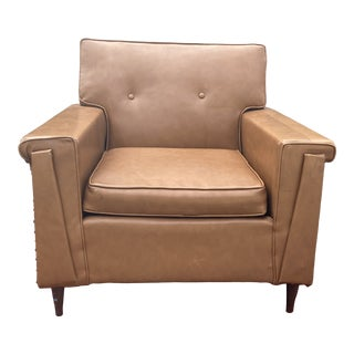 Mid-Century Modern Brown Club Chair For Sale