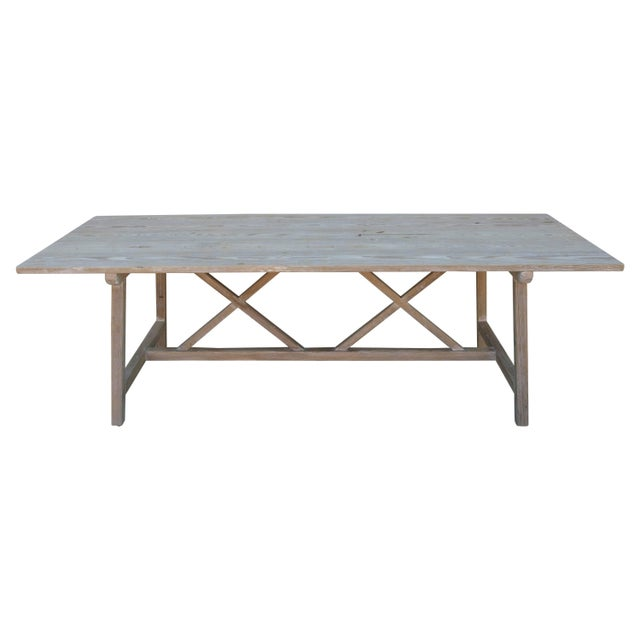 Farm or Harvest Table in Vintage Pine, Custom Made by Petersen Antiques For Sale - Image 11 of 11