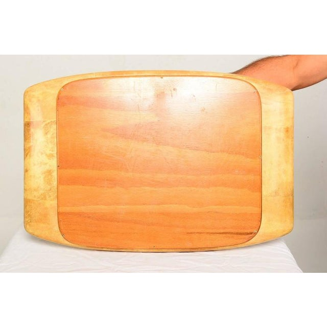 1960s, Aldo Tura Goatskin and Glass Service Tray, Midcentury For Sale - Image 9 of 10