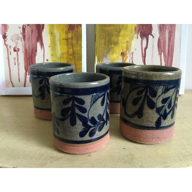 Painted Pottery & Terra Cotta Rocks Glasses - Set of 4 - Image 6 of 8