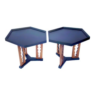 1960s Mid-Century Drexel Esperanto Drink Tables - a Pair