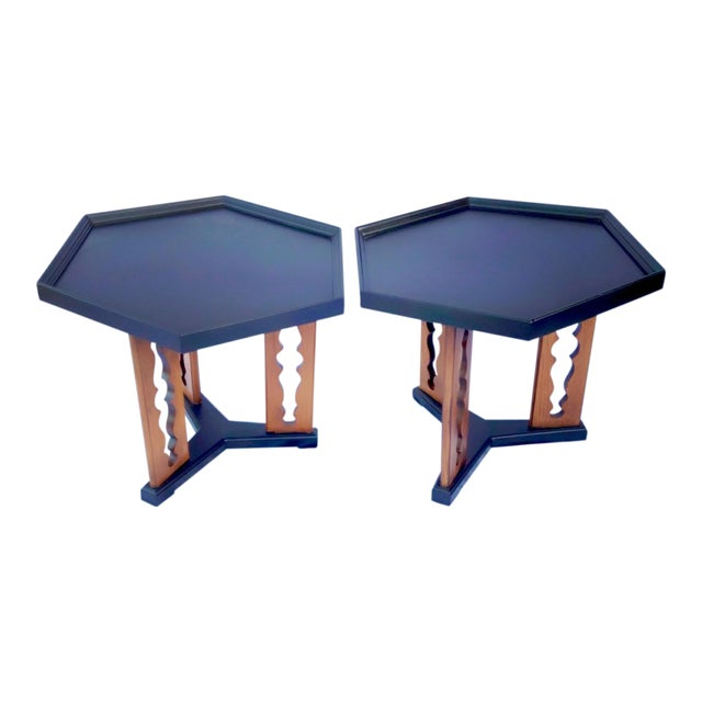 1960s Mid-Century Drexel Esperanto Drink Tables - a Pair For Sale