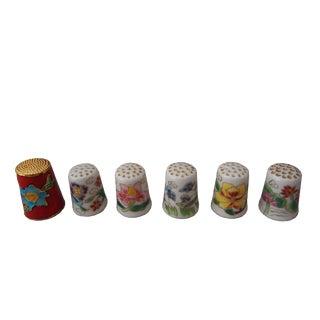 Decorative Sewing Thimbles - Set of 6
