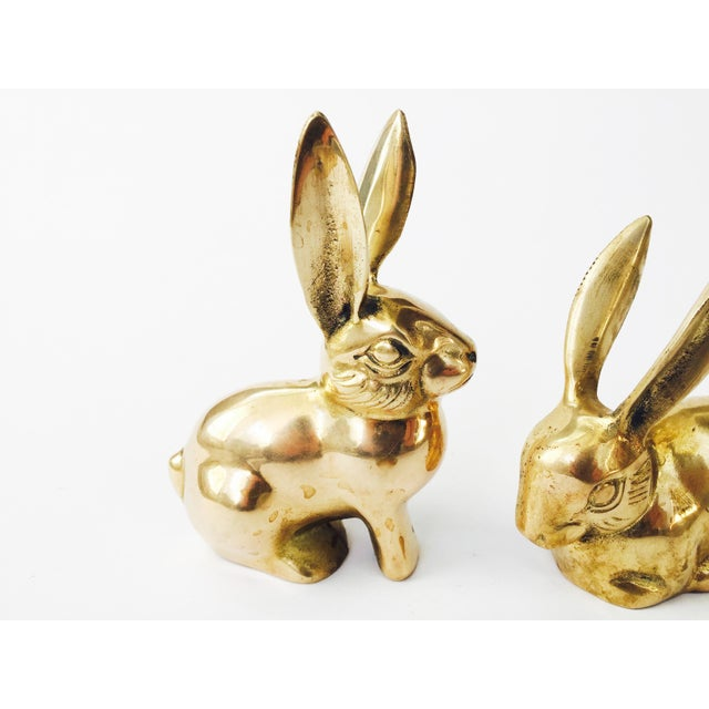 Vintage Brass Rabbit Figurines - A Pair - Image 4 of 6