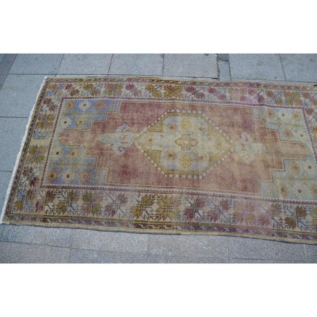 """Oushak Handmade Floor Carpet -- 3'7"""" x 6'7"""" For Sale - Image 4 of 6"""
