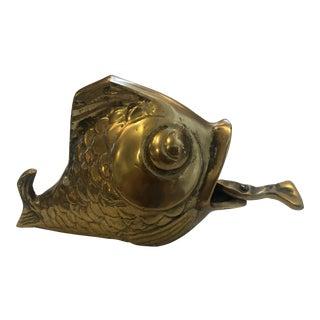 1940s Vintage Brass Ashtray For Sale