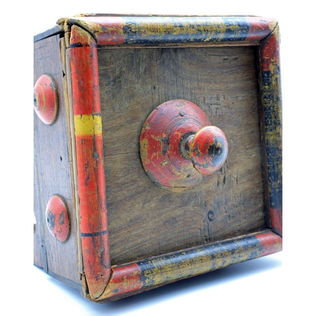 19th Century Antique Afghan Wood Spice Box For Sale - Image 11 of 13