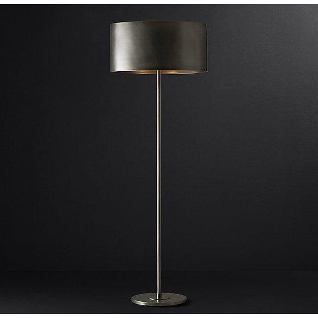 industrial modern antiqued metal drum floor lamp chairish