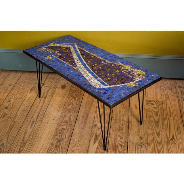 Mosaic Cocktail or Coffee Table For Sale In Houston - Image 6 of 6