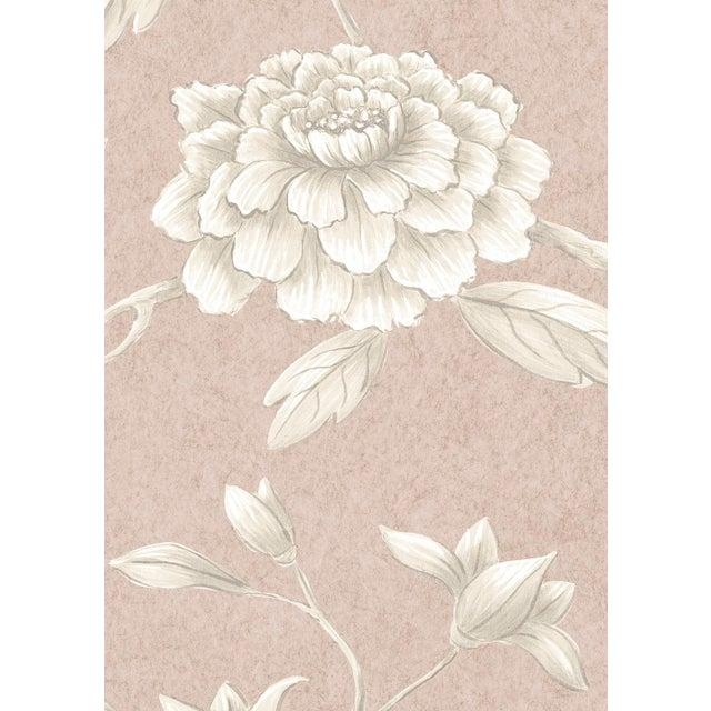 "English Lewis & Wood Jasper Peony Roan Bespoke Extra Wide 52"" Botanic Style Wallpaper For Sale - Image 3 of 4"