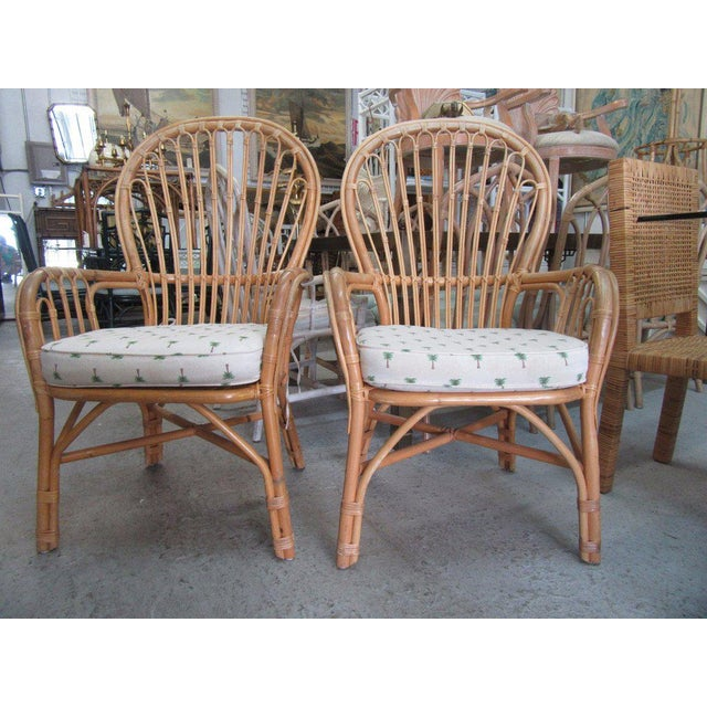 Island Style Rattan Chairs - A Pair - Image 6 of 7