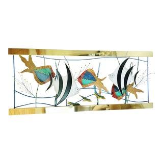 C. Jere Aquarium Metal Wall Art Sculpture