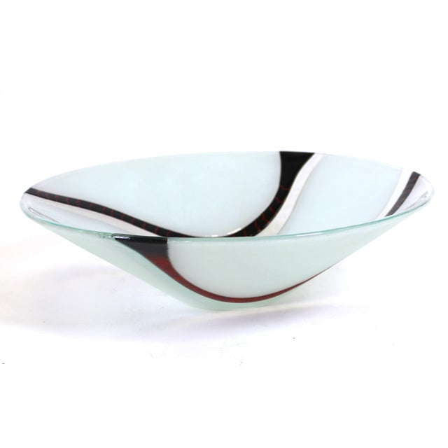 Richard Knopf Postmodern Glass Charger Plate For Sale In New York - Image 6 of 10