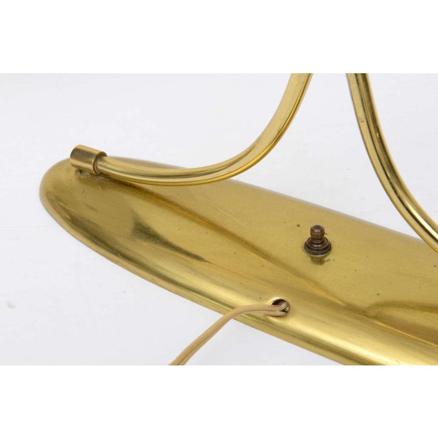 Brass Laurel Original Double Shade Lamp For Sale - Image 7 of 10