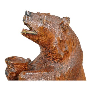 A Large Carved Standing Bear, Brienz Ca. 1930 For Sale