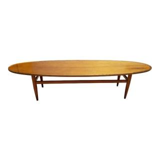 Heritage Mid-Century Danish Modern Style Walnut Oval Coffee Table