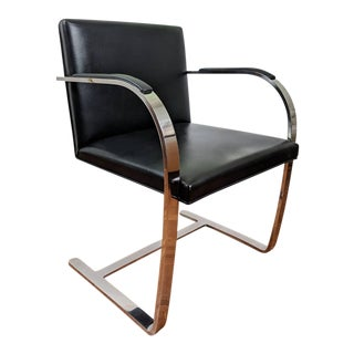 Mid Century Modern Mies Van Der Rohe Brno Flat Bar Chair For Sale