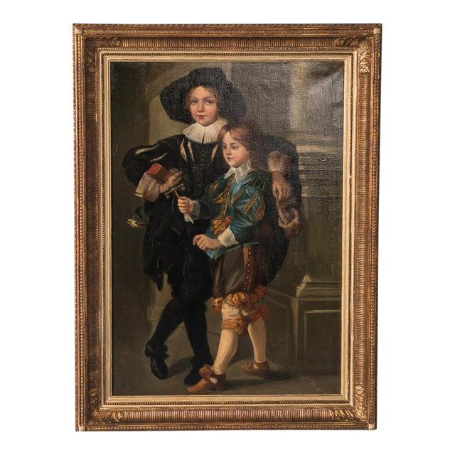 Antiques Atlas - Victorian Oil Painting Portrait Of Boy
