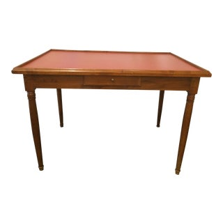 French Walnut Directoire Game Table For Sale