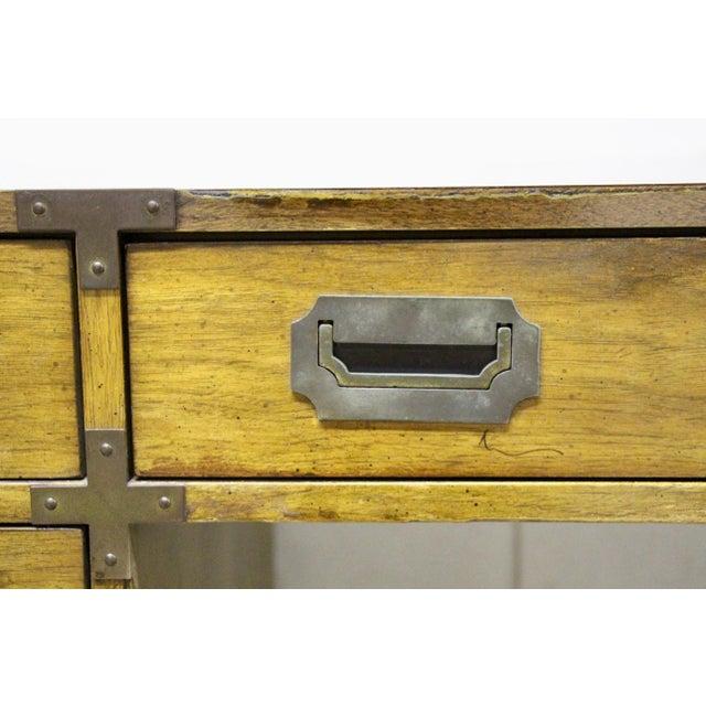 Brass Bernhardt Campaign Partner Desk For Sale - Image 7 of 12