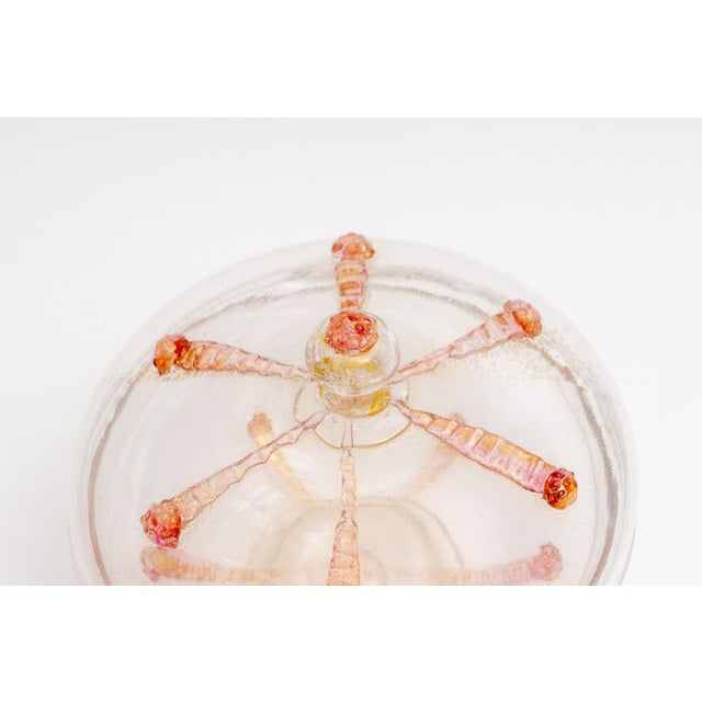 1930s Barovier E Toso Murano Glass Bonbonniere Candy Dish For Sale - Image 4 of 9