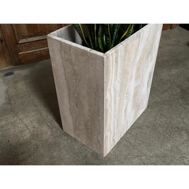 20th Century Modern Travertine Marble Planter For Sale In Los Angeles - Image 6 of 11