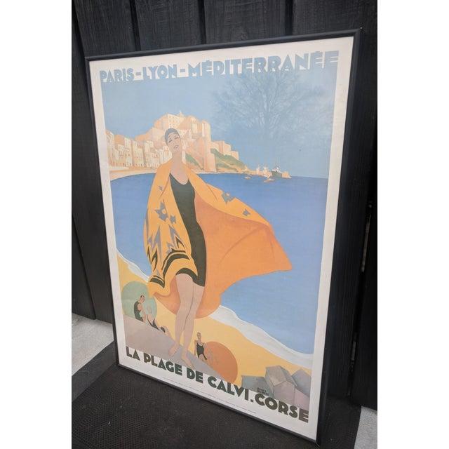 Vintage French Advertisement Illustration by Roger Broders Framed For Sale - Image 4 of 9