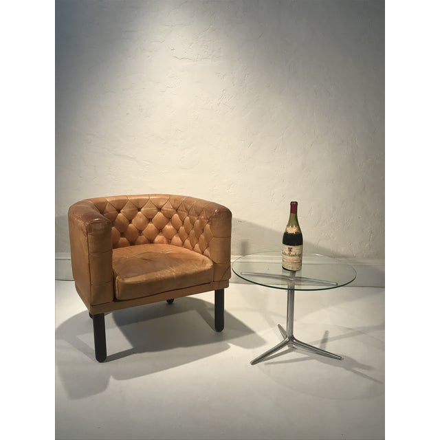 Brown 1960s Vintage Cassina Figli DI Amedeo Tufted Leather Club Chair For Sale - Image 8 of 12