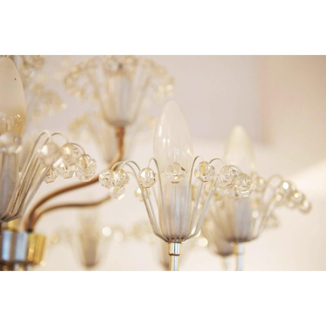 1960s Large Mid Century Chandelier by Emil Stejnar for Rupert Nikoll For Sale - Image 5 of 9