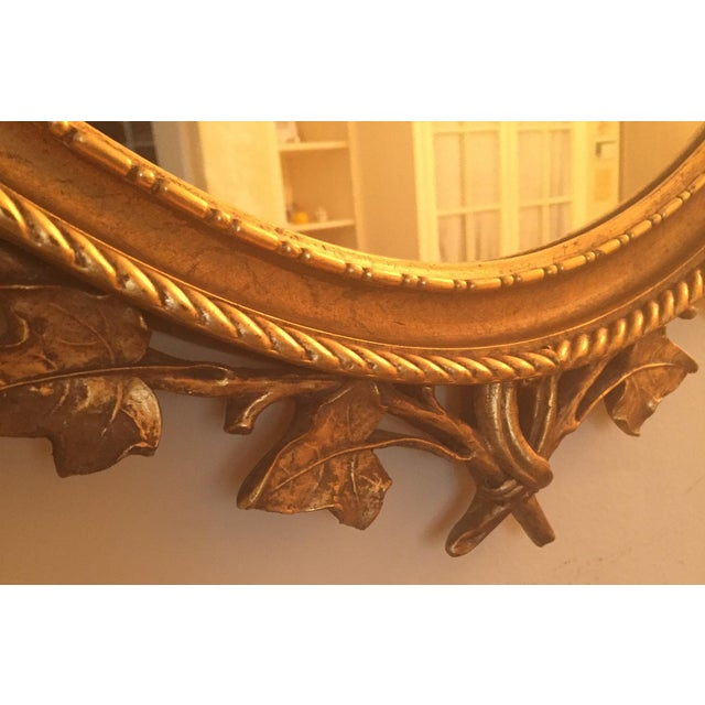 French Guilt Oval Mirror For Sale - Image 5 of 6