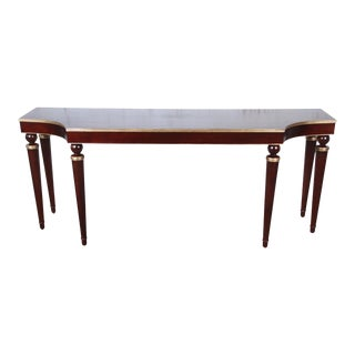 Barbara Barry for Baker Furniture Mahogany and Gold Gilt Console or Sofa Table, Newly Restored For Sale