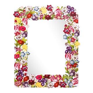 Fleur Home x Chairish Liz Marsh Floral Burst Mirror For Sale