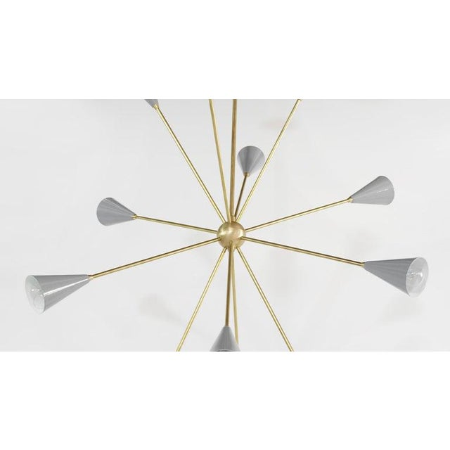 "Modern ""Spore"" Chandelier For Sale - Image 3 of 10"